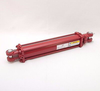 "Tie Rod Cylinder 3"" x 16"",  Hydraulic Double Acting, 3 IN Bore x 16 IN Stroke"