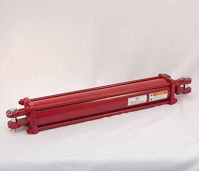 """Tie Rod Cylinder 4"""" x 24"""",  Hydraulic Double Acting, 4 IN Bore x 24 IN Stroke"""