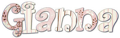 Hanging Wood Wall Letters Painted Match Cocalo Daniella Bedding Nursery Decor
