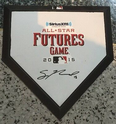 Sean Newcomb Signed Mini 2015 Future Home Plate Angels Top Prospect