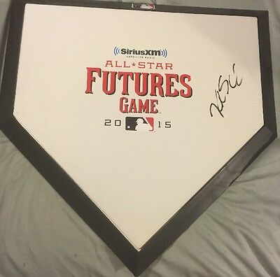 Kyle Schwarber Signed Full Size 2015 Futures Game MVP Home Plate Cubs D2