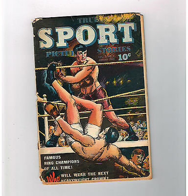 TRUE SPORT PICTURE STORIES (v2) #8 Gold Age (1944) sports from Street & Smith!