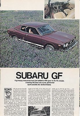 1975 Subaru GF Coupe - 5-speed - Glowing & Detailed USA Car Magazine Road Test