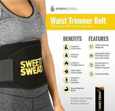 Sweet Sweat Premium Waist Trimmer, 1-size-fits-all Free Shipping