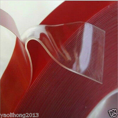 1mm  Double-sided Clear Transparent Acrylic Foam Adhesive Tape Long 10M