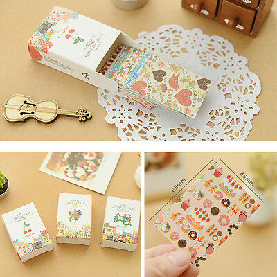 Book Decor Sticker 52 Sheets Diary Scrap Index Label Flower Pattern Gift Pic