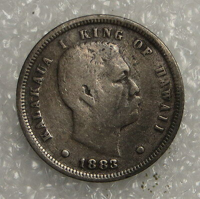1883 Kingdom of Hawaii Dime ungraded