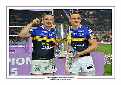 2015 Kevin Sinfield Maguire Super League Champions Leeds Rhinos A4 Print Photo 2