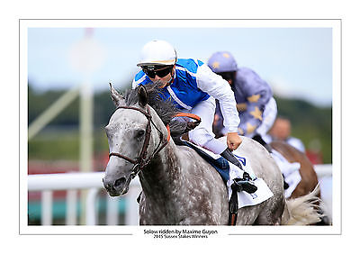 Solow Horse Racing  A4 Print Photo Maxime Guyon 2015 Sussex Stakes Goodwood