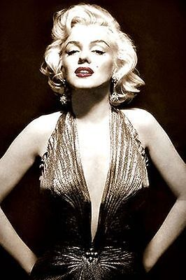MARILYN MONROE - SEPIA POSTER - 24x36 - SEXY PIN UP 241306