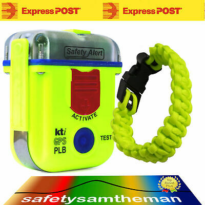 Kti Sa2G Epirb Plb Location Beacon With Armband Pouch And Fluro Yellow Paracord