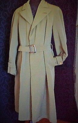 vintage trench coat overcoat khaki Army style TC BEIRNE VALLEY BRIS Shamrock clo