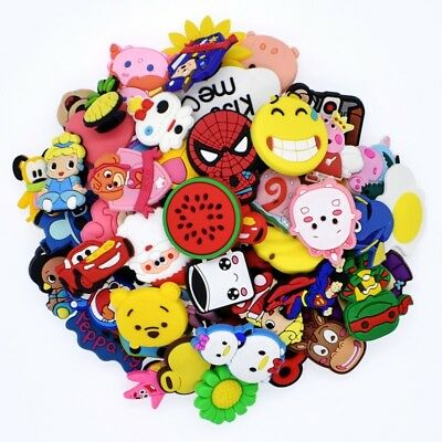 NEW 50pcs Different Random PVC Shoes Charms for Clog&Jibitz Silicone Wristbands