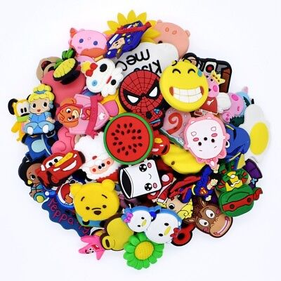 NEW 50pcs Different Random PVC Shoes Charms for Croc&Jibbitz Silicone Wristbands