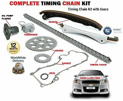 For Chevrolet Aveo 1.3D T300 2011--> Timing Cam Chain Kit Set + Oil Pump Flange