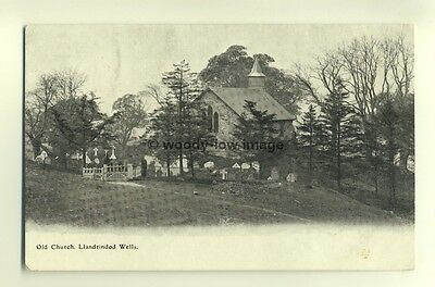 cu1582 - Old Church , Llandrindod Wells , Radnorshire , Wales - postcard