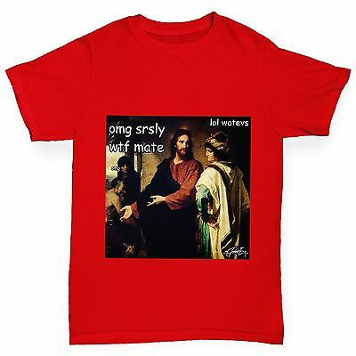 Twisted Envy Boy's Funny Christ And The Rich Young Ruler Funny Cotton T-Shirt