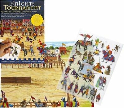 New Medieval Knights Tournament Jousts Rub Down Transfer Activity Pack. Westair