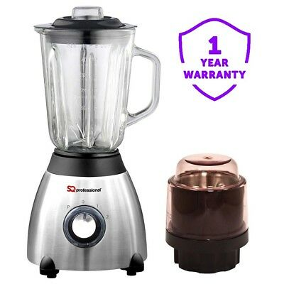 SQ Professional Stainless Steel Multi Food Blender and Grinder 500W Silver 1.5L