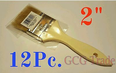 12 of 2 Inch Chip Brush Disposable for Adhesives Paint Touchups Glue 2""