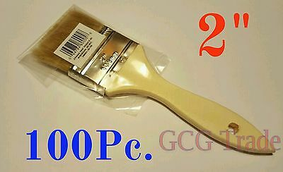 100 of 2 Inch Chip Brush Disposable for Adhesives Paint Touchups Glue 2""
