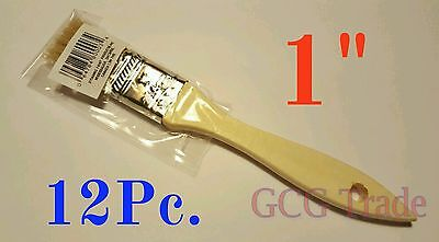 12 of 1 Inch Chip Brush Disposable for Adhesives Paint Touchups Glue 1""