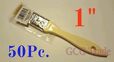 50 of 1 Inch Chip Brush Disposable for Adhesives Paint Touchups Glue 1""