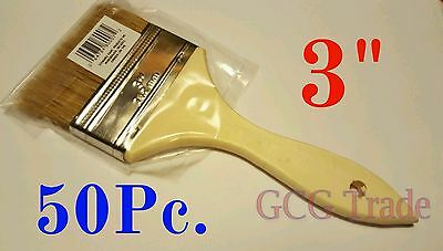 50 of 3 Inch Chip Brush Disposable for Adhesives Paint Touchups Glue 3""