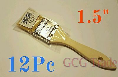 12 of 1.5 Inch Chip Brush Disposable for Adhesives Paint Touchups Glue 1.1/2""