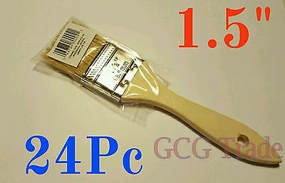 24 of 1.5 Inch Chip Brush Disposable for Adhesives Paint Touchups Glue 1.1/2""