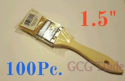 100 of 1.5 Inch Chip Brush Disposable for Adhesives Paint Touchups Glue 1.1/2""