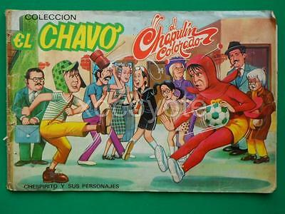 1970's EL CHAVO Chespirito EL CHAPULIN COLORADO COMPLETE STICKERS ALBUM RARE!!