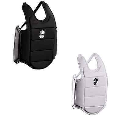ProForce® Ultra Lite Chest Guard Sparring Gear Vest Black White Youth/Adult