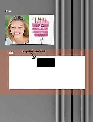 50 & 100 Stick On To Card Magnets Magnetic Patch Peel Self Adhesive Invitations