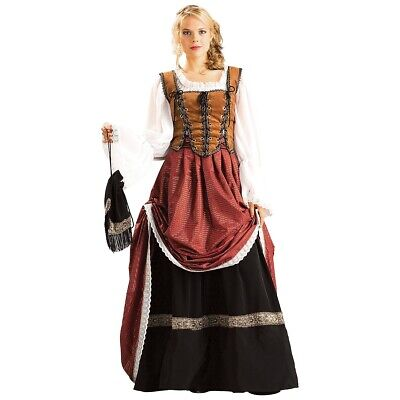 Scottish Brigadoon Costume Adult Medieval Lady Renaissance Maiden Dress
