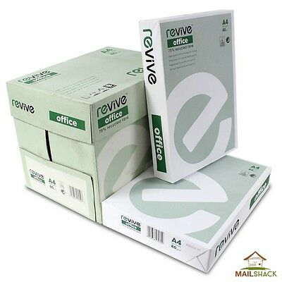 A4 80gsm White Office Paper Printing Copying   1 2 3 4 Reams   FAST DELIVERY