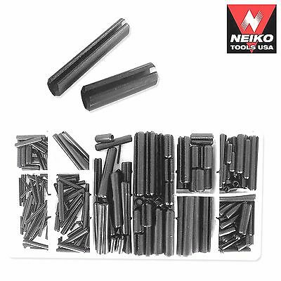 NEIKO 50412A - 315 Piece Heat Treated Spring Steel Roll Pin Assortment Kit - New