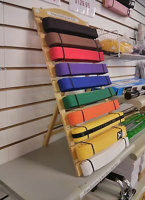 Belt Display Martial Arts Belt Stand Rack Holder Karate TKD Judo Freestanding