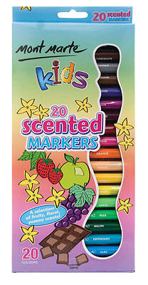 Mont Marte Kids Colour Scented Markers Pkt 20