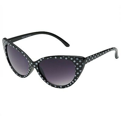 1c07350b9522e Womens Polka Dot Cat Eye Sunglasses 50 s Cute Vintage Sunnies Retro Fashion  Sexy