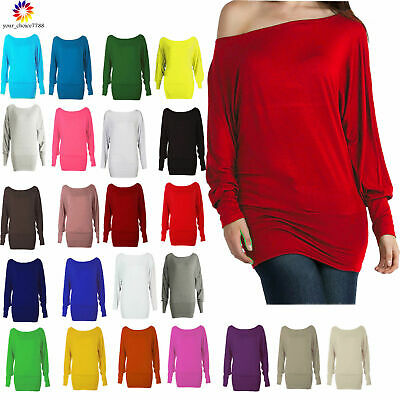 54f31c2707ba WOMENS BATWING SLEEVE Baggy Tops Blouse Ladies Knitted Oversized ...