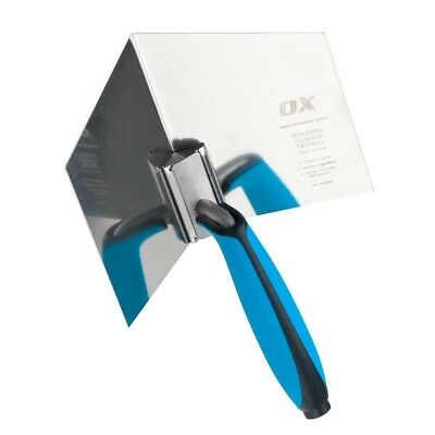 OX TOOLS Stainless Plastering Inside/Internal Corner Angle Trowel, OX-P013001