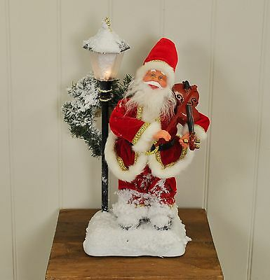 Animated Father Christmas Figure with Violin by Westwoods Xmas Decoration