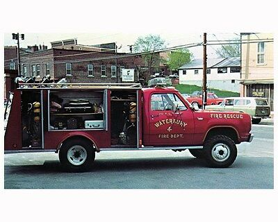 1976 Middlesex Fire Truck Photo Poster Waterbury Vermont zca2813