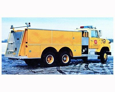1986 Pierce Tanker Fire Truck Photo Poster zca2879