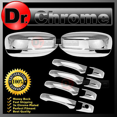 FOR 11 12 13 14 15 CHRYSLER 200 /& 300 CHROME 4 DOOR HANDLE COVERS W//O PSKH W//SMK