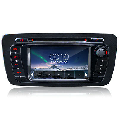 DVD Player GPS Car Radio Sat Nav Stereo For SEAT IBIZA 2009-2013 iPod A2DP BT