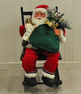Traditional Santa Claus in Rocking Chair by Westwoods 80cm Christmas Decoration