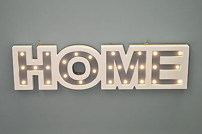 Home Wooden LED Light Up Sign by Westwoods / Christmas Xmas Decoration