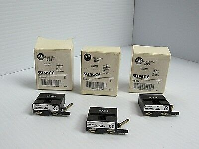 Lot Of 3 Allen Bradley 595-B02 595B02 Series B Auxiliary Contact New